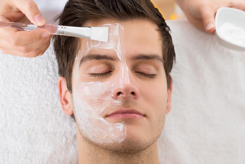 Facial spa for men rare